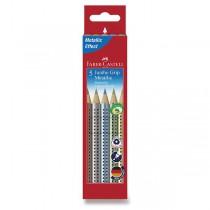 Pastelky Faber-Castell Jumbo Grip Metalic 5 barev