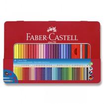 Pastelky Faber-Castell Grip 2001 plechová krabička, 48 barev