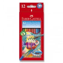 Akvarelové pastelky Faber-Castell 12 barev + štětec