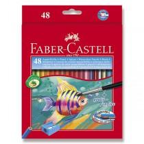 Akvarelové pastelky Faber-Castell 48 barev + štětec