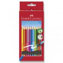 Pastelky Faber-Castell s barevnou pryží 12 barev