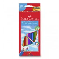 Pastelky Faber-Castell trojhranné 12 barev + ořezávátko