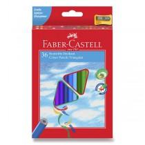 Pastelky Faber-Castell trojhranné 36 barev + ořezávátko