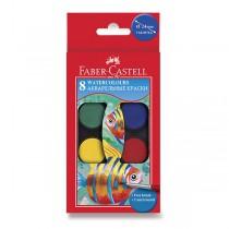 Vodové barvy Faber-Castell 8 barev, průměr 24 mm