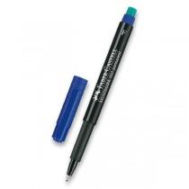 Permanentní popisovač Faber-Castell 1513 F modrý