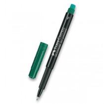 Permanentní popisovač Faber-Castell 1513 F zelený