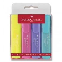 Zvýrazňovač Faber-Castell Textliner 1546 4 kusy, pastelové