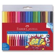 Dětské fixy Faber-Castell Grip 20 barev