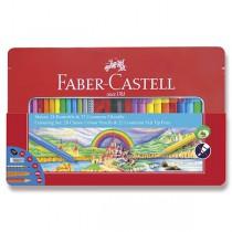 Kreativní sada Faber-Castell - fixy Connector a pastelky 50 kusů