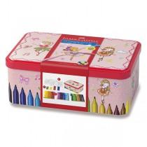 Dětské fixy Faber-Castell Connector balerínka, 33 barev