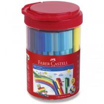 Dětské fixy Faber-Castell Connector dóza, 50 barev