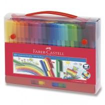 Dětské fixy Faber-Castell Connector taška, 60 barev