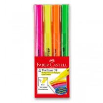 Zvýrazňovač Faber-Castell Textliner 1538 4 kusy