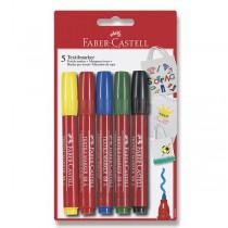 Popisovač Faber-Castell na textil 5 barev