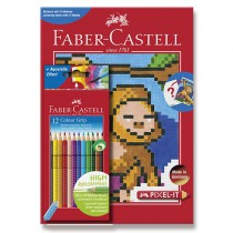 Pastelky Faber-Castell Grip 2001 Pixel-it 12 barev
