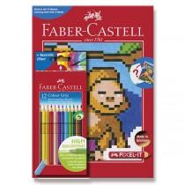 Pastelky Faber-Castell Grip 2001 Pixel-it 12 barev