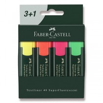 Zvýrazňovač Faber-Castell Textliner 48 4 kusy