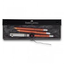 Grafitová tužka Faber-Castell Perfektní tužka 3 ks, hnědá