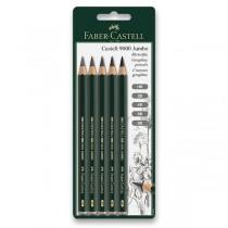 Grafitová tužka Faber-Castell Castell 9000 Jumbo 5 ks