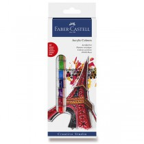Akrylové barvy Faber-Castell 12 barev