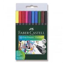Popisovač Faber-Castell Grip 10 barev