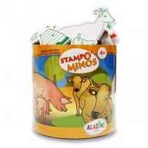 Razítka Aladine Stampo Minos - Zvířátka na farmě 23 ks