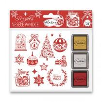 Razítka Stampo Nöel Aladine - Veselé Vánoce 13 ks