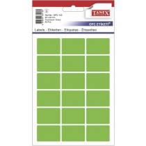Etikety v sáčku neon 22 x 32 zelené 90ks OCF-116