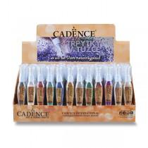 Třpytky v tužce Cadence stojánek, 72 ks