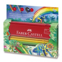 Pastelky Faber-Castell Grip 2001 džungle, 17 ks