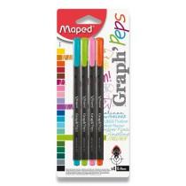 Liner Maped Graph´Peps sada 4 pastelových barev