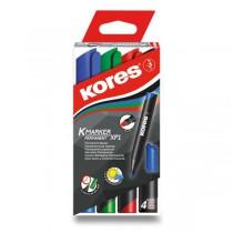 Permanentní popisovač Kores K-Marker sada 4 barev