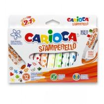 Fixy Carioca Stamp Markers 12 barev