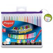 Dětské fixy Maped Color´Peps Long Life 15 barev