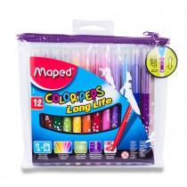 Dětské fixy Maped Color´Peps Long Life 12 barev