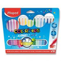 Dětské fixy Maped Color´Peps Long Life 18 barev