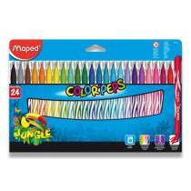 Dětské fixy Maped Color´Peps Jungle 24 barev