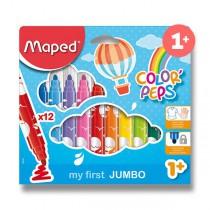 Dětské fixy Maped Color´Peps Jumbo 12 barev