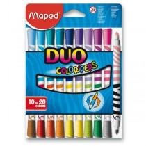 Dětské fixy Maped Color´Peps Duo 10 oboustranných fixů
