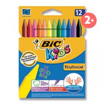 Plastové pastely Bic Kids Plastidecor 12 barev