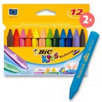 Voskové pastely Bic Kids Plastidecor Triangle 12 barev, trojhranné