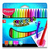 Plastové pastely Maped Color´Peps Plasticlean 18 barev