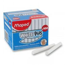 Křídy Maped bílé, 100 kusů