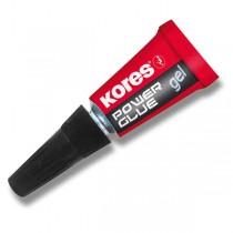 Vteřinové lepidlo Kores Power Glue Gel 3×1 g