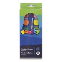 Vodové barvy Coolty 12 barev, průměr 28 mm