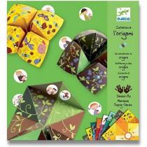 Origami skládačka Djeco - Nebe, peklo, ráj zelená sada