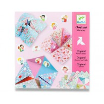 Origami skládačka Djeco - Nebe, peklo, ráj růžová sada