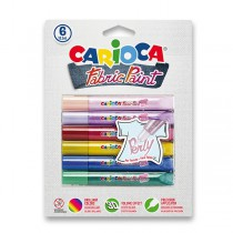 Barvy na textil Carioca Pop Fabric Paint Perly 6 barev, Perly