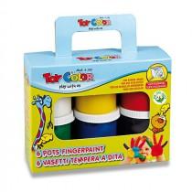 Prstové barvy Toy Color 6 barev, 80 ml