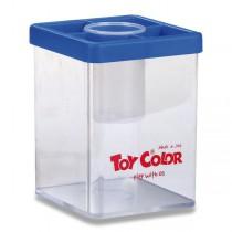 Stojánek na vodu Toy Color transparentní s víčkem, mix barev